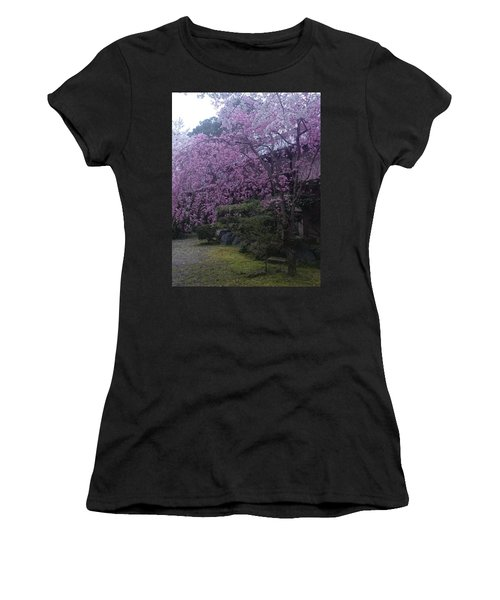 Shidarezakura Mean A Drooping Cherry Tree  Women's T-Shirt (Athletic Fit)