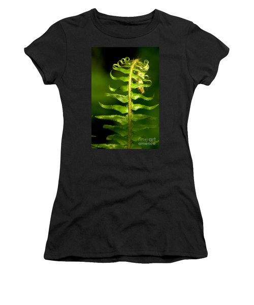 A Light In The Forest Women's T-Shirt (Junior Cut) by Sean Griffin