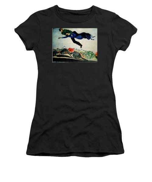 Above The Town Women's T-Shirt (Junior Cut) by Chagall