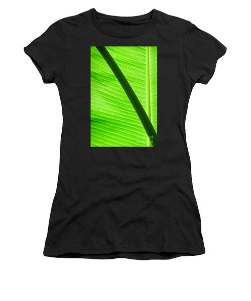 Abstract Banana Leaf Women's T-Shirt (Athletic Fit)