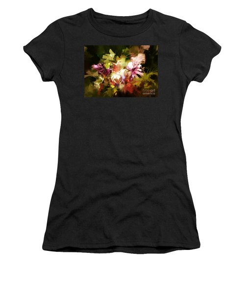 Abstract Flowers Women's T-Shirt