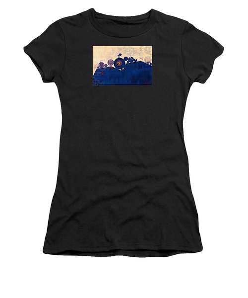 Abstract Painting - Champagne Women's T-Shirt (Athletic Fit)
