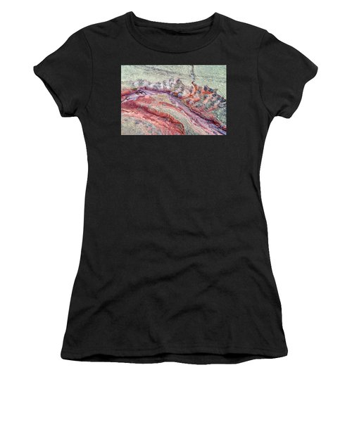aerial landscape abstract of Colorado foothills Women's T-Shirt (Athletic Fit)