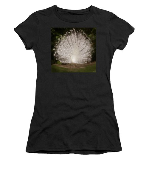 Albino Peacock  Women's T-Shirt (Athletic Fit)
