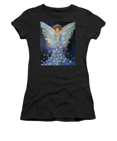 Angels Among Us Women's T-Shirt (Athletic Fit)