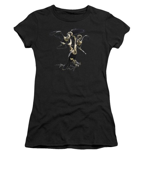 Anhinga Feeding Time Transparency Women's T-Shirt (Athletic Fit)
