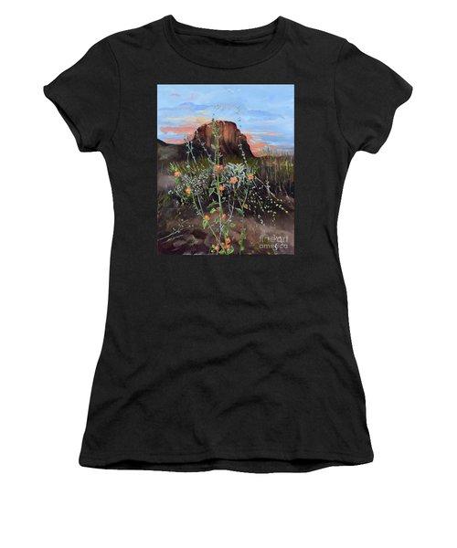 Arizona Desert Flowers-dwarf Indian Mallow Women's T-Shirt