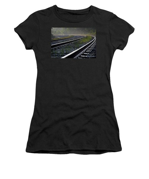 Women's T-Shirt (Junior Cut) featuring the photograph Around The Bend by Douglas Stucky