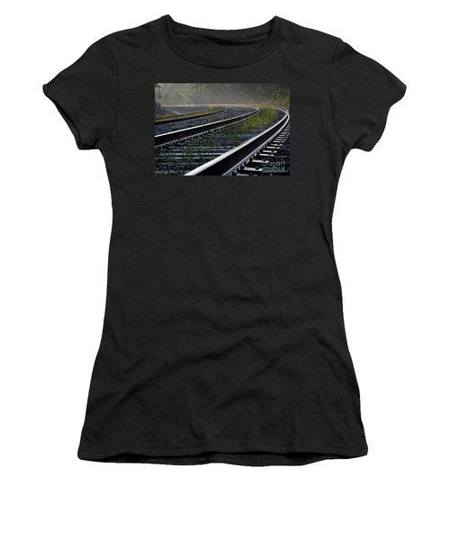 Around The Bend Women's T-Shirt (Junior Cut) by Douglas Stucky