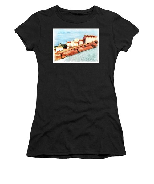 Arzachena Roof And Church Women's T-Shirt (Athletic Fit)