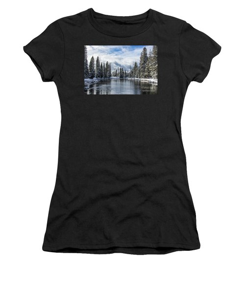 Big Springs In Winter Idaho Journey Landscape Photography By Kaylyn Franks Women's T-Shirt