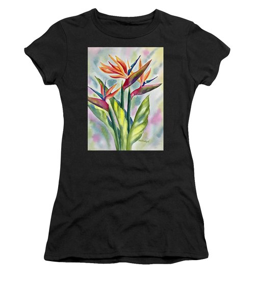 Bird Of Paradise Flowers Women's T-Shirt (Athletic Fit)