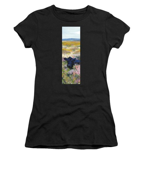 Black Cow Dartmoor Women's T-Shirt (Athletic Fit)