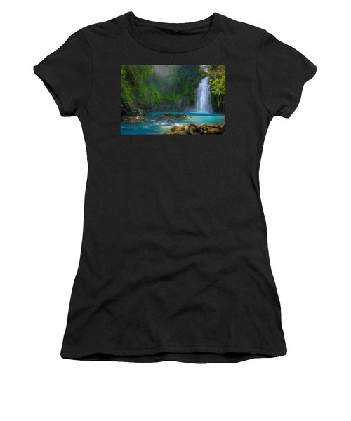 Blue Waterfall Women's T-Shirt