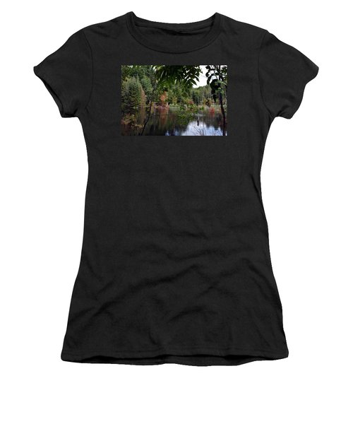 Women's T-Shirt (Junior Cut) featuring the photograph Blueberry Mountain by Pat Purdy
