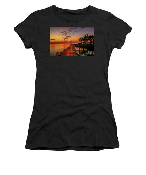 Boardwalk Sunrise Women's T-Shirt (Athletic Fit)
