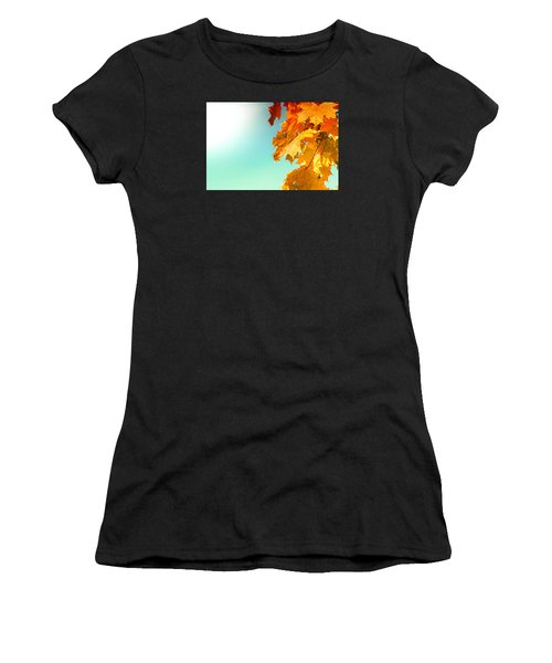 Yellow Autumn White Sun Women's T-Shirt