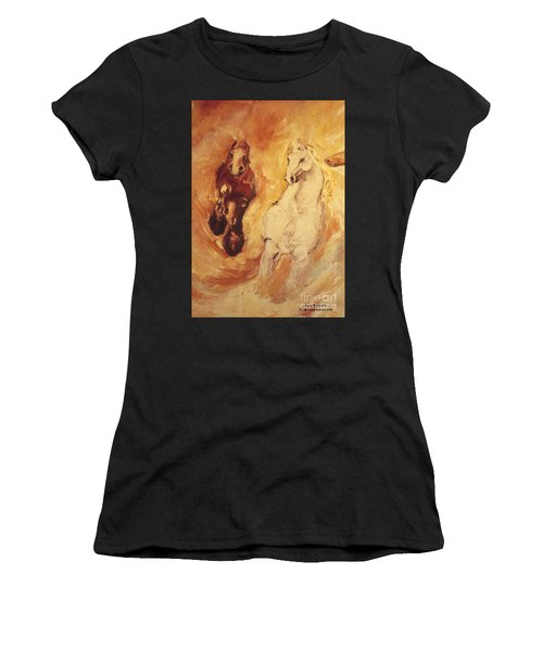 Bringers Of The Dawn Section Of Mural Women's T-Shirt (Athletic Fit)