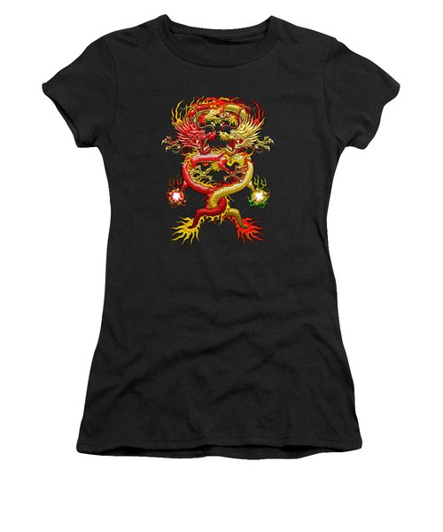 Brotherhood Of The Snake - The Red And The Yellow Dragons Women's T-Shirt (Athletic Fit)