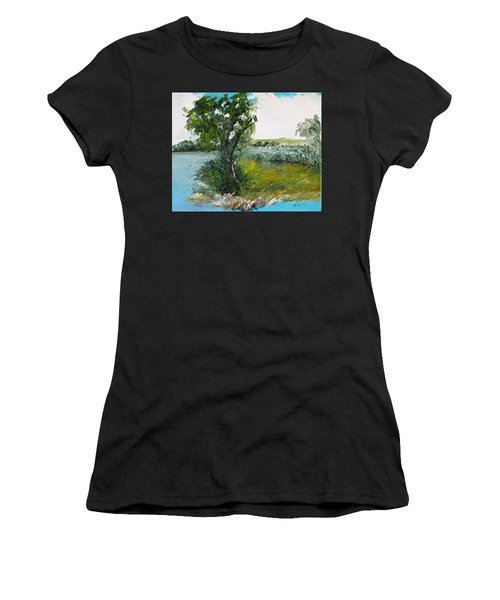 By The Snake River Women's T-Shirt (Athletic Fit)
