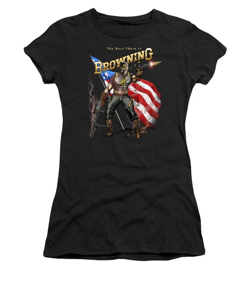 Captain Browning Women's T-Shirt (Junior Cut) by Rob Corsetti
