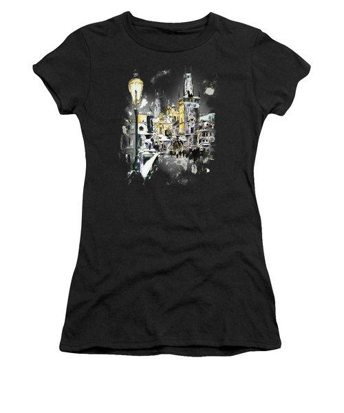 Charles Bridge In Winter Women's T-Shirt