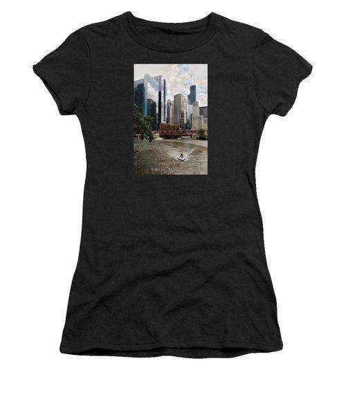 Chicago River Jet Ski Women's T-Shirt