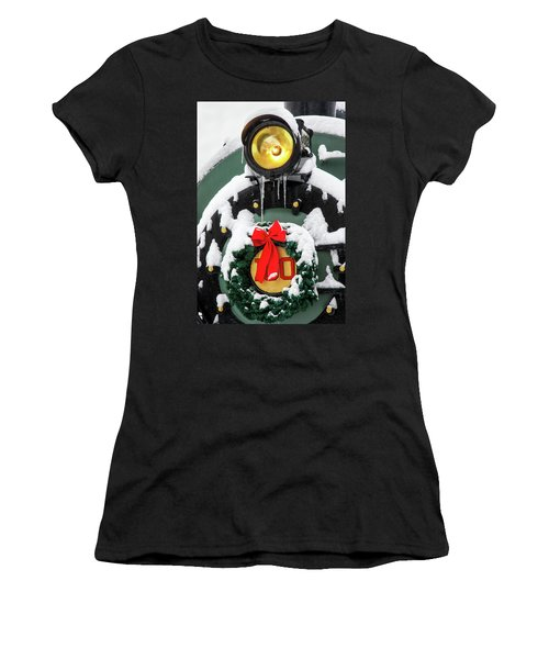 Christmas Train At Pacific Junction Women's T-Shirt