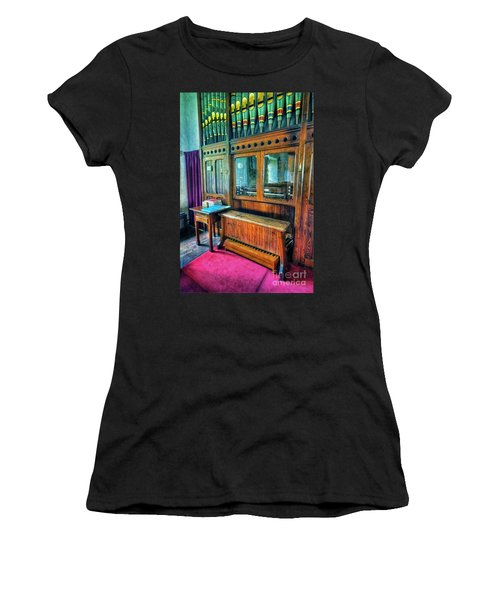 Church Organ Women's T-Shirt (Athletic Fit)