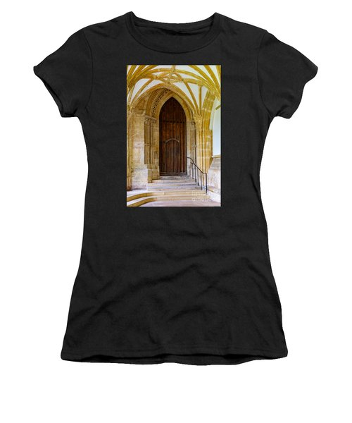Cloisters, Wells Cathedral Women's T-Shirt (Athletic Fit)