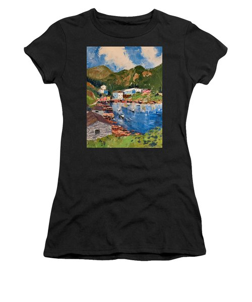 Coastal Village, Newfoundland Women's T-Shirt