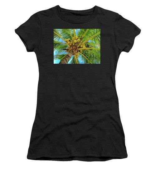 Coconuts In Tree Women's T-Shirt