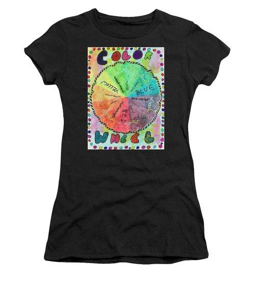 Color Wheel Women's T-Shirt (Athletic Fit)