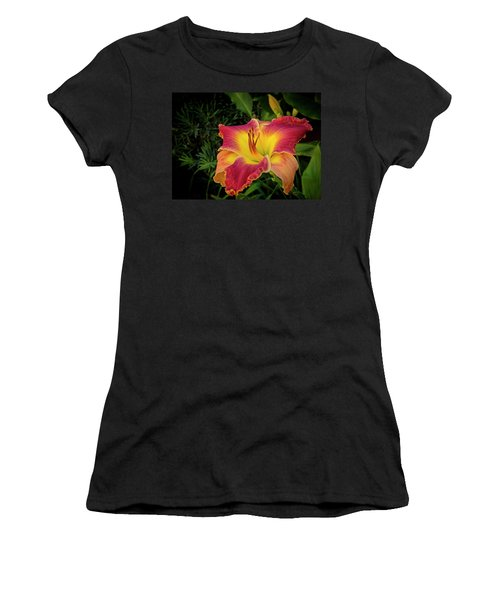 Colorful Lily  Women's T-Shirt (Athletic Fit)