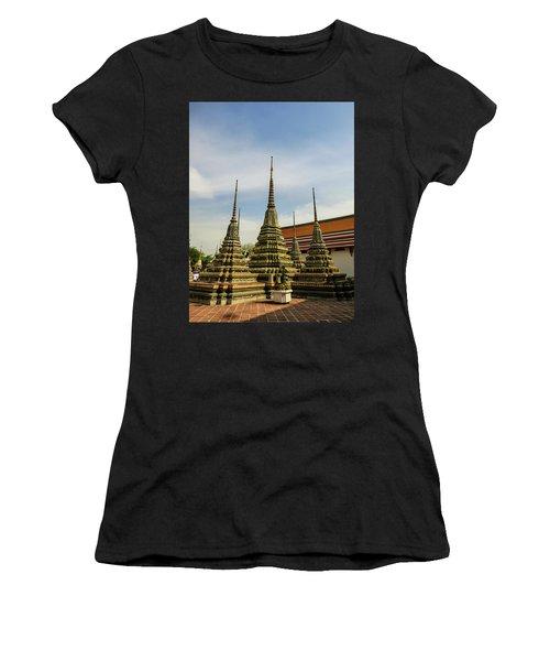 Colorful Stupas At Wat Pho Temple Women's T-Shirt (Athletic Fit)