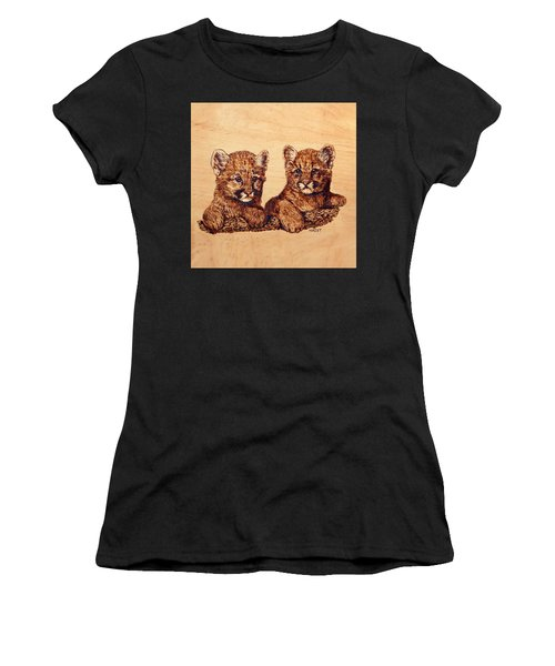 Cougar Cubs Women's T-Shirt (Athletic Fit)