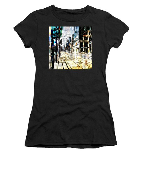 Crossing Spadina Women's T-Shirt (Junior Cut) by Nicky Jameson
