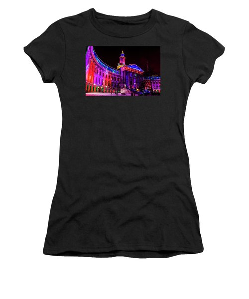 Denver City And County Building Holiday Lights Women's T-Shirt