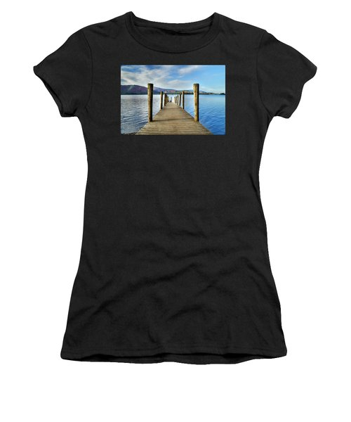 Derwent Water Pier Women's T-Shirt (Athletic Fit)