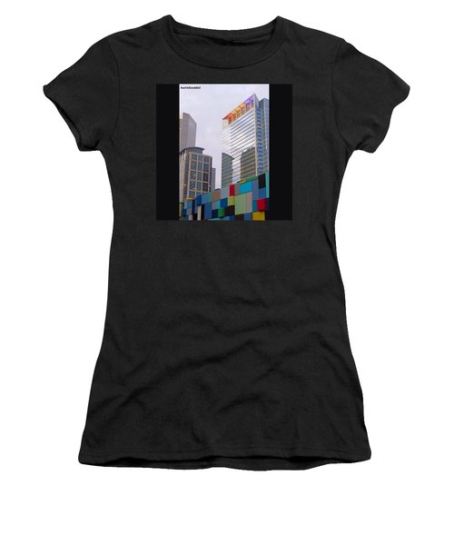#downtown #houston From #discoverygreen Women's T-Shirt (Athletic Fit)