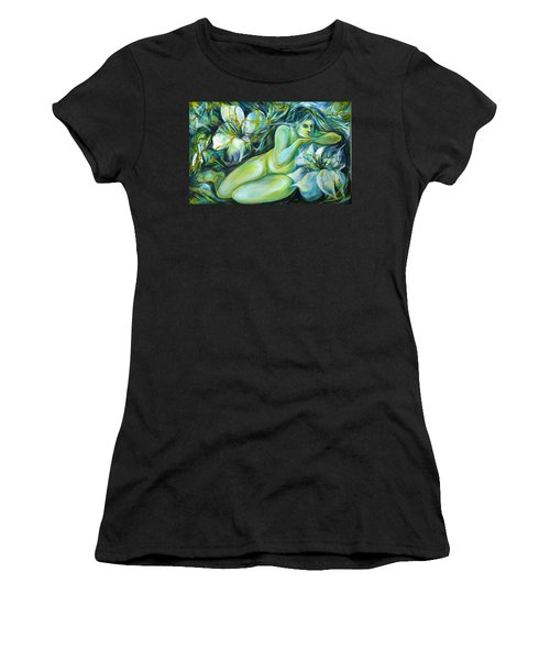 Dreaming Flower Women's T-Shirt (Junior Cut) by Anna  Duyunova