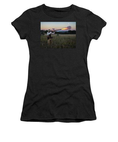 Early 1800's Flintlock Muzzleloader Blast Women's T-Shirt