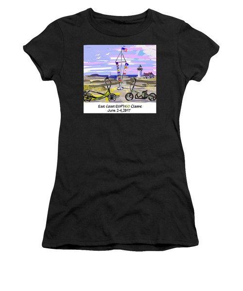 East Coast Elliptigo Classic Women's T-Shirt (Athletic Fit)