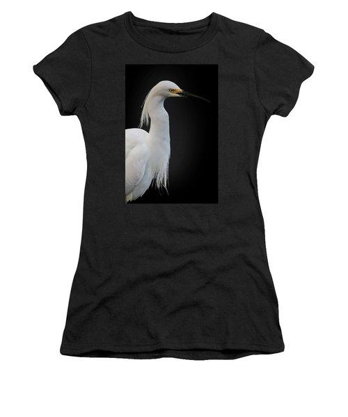 Egret Women's T-Shirt (Athletic Fit)