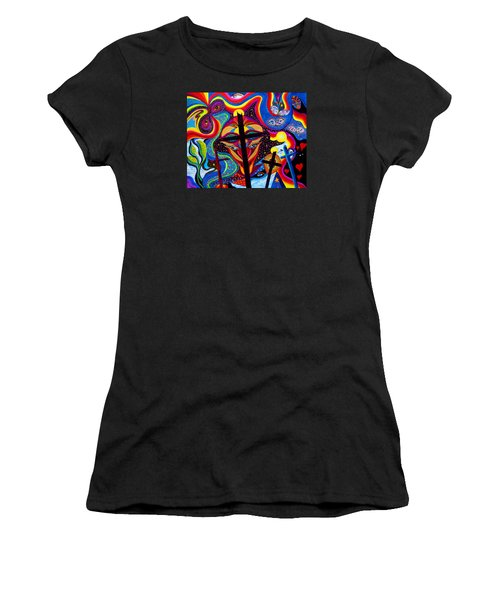 Crosses To Bear Women's T-Shirt (Junior Cut) by Marina Petro