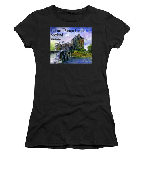 Eilean Donan Castle Scotland Women's T-Shirt (Athletic Fit)