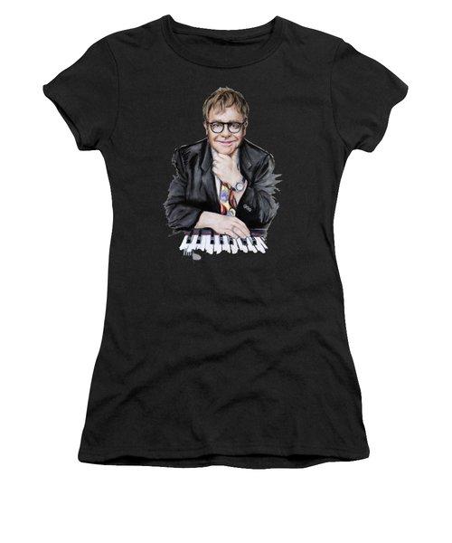 Elton John Women's T-Shirt (Athletic Fit)