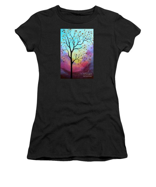 Enchanted Aura Women's T-Shirt (Junior Cut) by Stacey Zimmerman