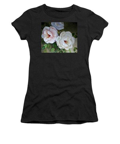 Women's T-Shirt (Junior Cut) featuring the painting Etre Fleur  by Patricia Schneider Mitchell