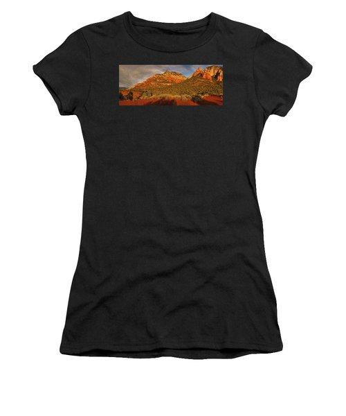 Evening Shadows Pano Txt Women's T-Shirt